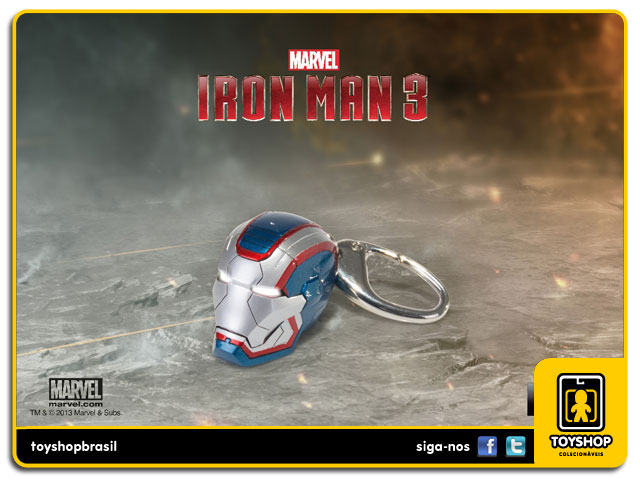 Iron Man 3: Chaveiro Iron Patriot - Iron Studios