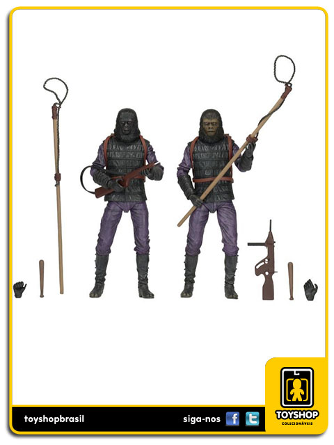 Planet of the Apes: Gorilla Soldier Infantry 2-Pack - Neca