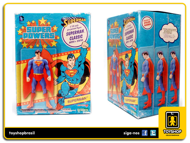 Super Powers: Superman Classic  1/10 Artfx - Kotobukiya