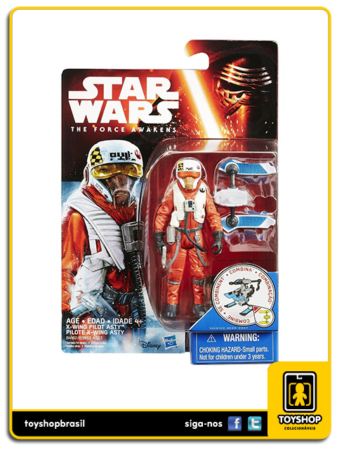 Star Wars The Force Awakens: X-Wing Pilot Asty - Hasbro