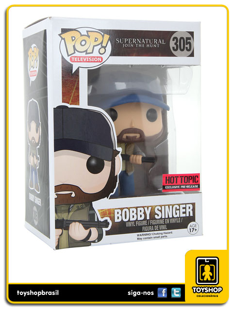 Supernatural: Bobby Singer Hot Topic  Exclusive  Pop - Funko