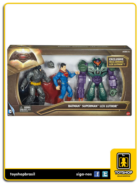 DC Comics Batman v Superman: Box 3 Figuras - Mattel