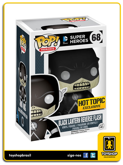 Super Heroes: Black Lantern Reverse Flash Hot Topic Exclusive  Pop - Funko