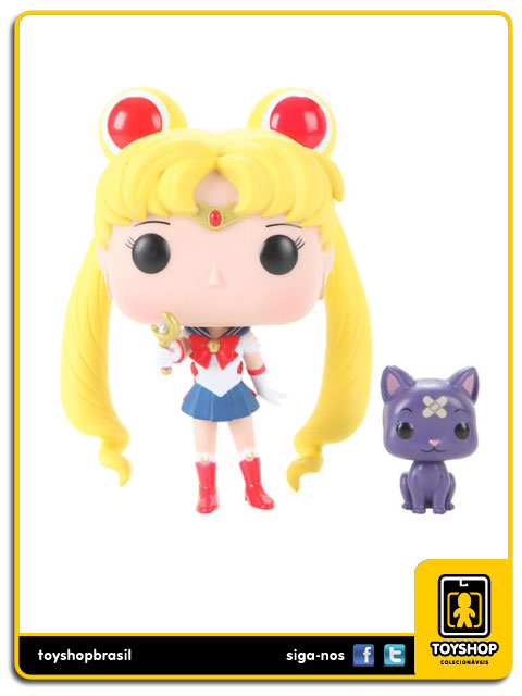 Sailor Moon: Sailor Moon with moon Stick & Luna Hot Topic Exclusive  Pop - Funko