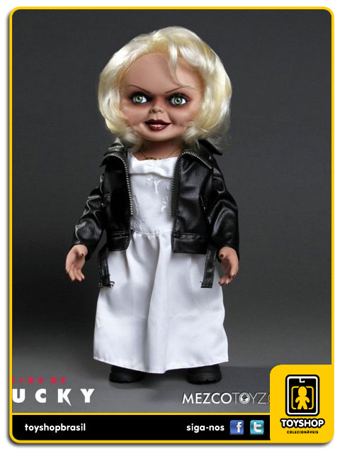 Bride of Chucky: Talking Tiffany  38 Cm Com Sons - Mezco