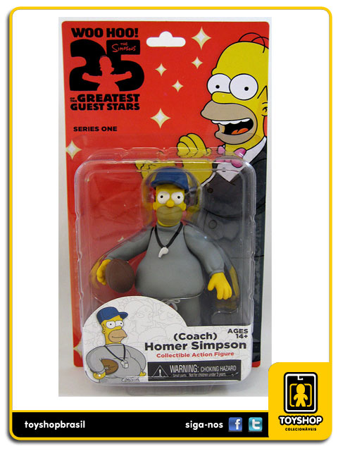 The Simpsons 25th Anniversary: Coach Homer Simpson - Neca