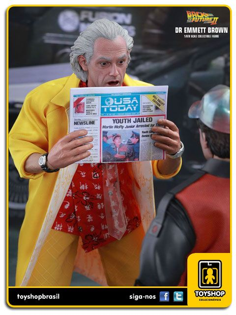 Back to the Future part II Dr. Emmett Brown  Special Edition 1/6 Hot Toys