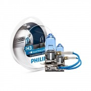 Lâmpada Philips Crystal Vision Ultra H3 4100K 12V 55W W5W - Par