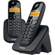 Telefone Sem Fio Intelbras TS3112 ID Com 2 Ramais - Preto