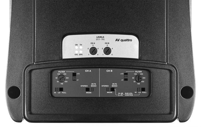 Amplificador Audison AV Quattro (4x 200W / 2x 400W RMS)