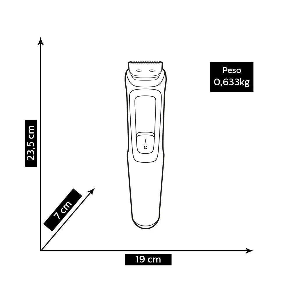 Aparador de Pelos Philips MG3711/15 Multigroom 6 em 1