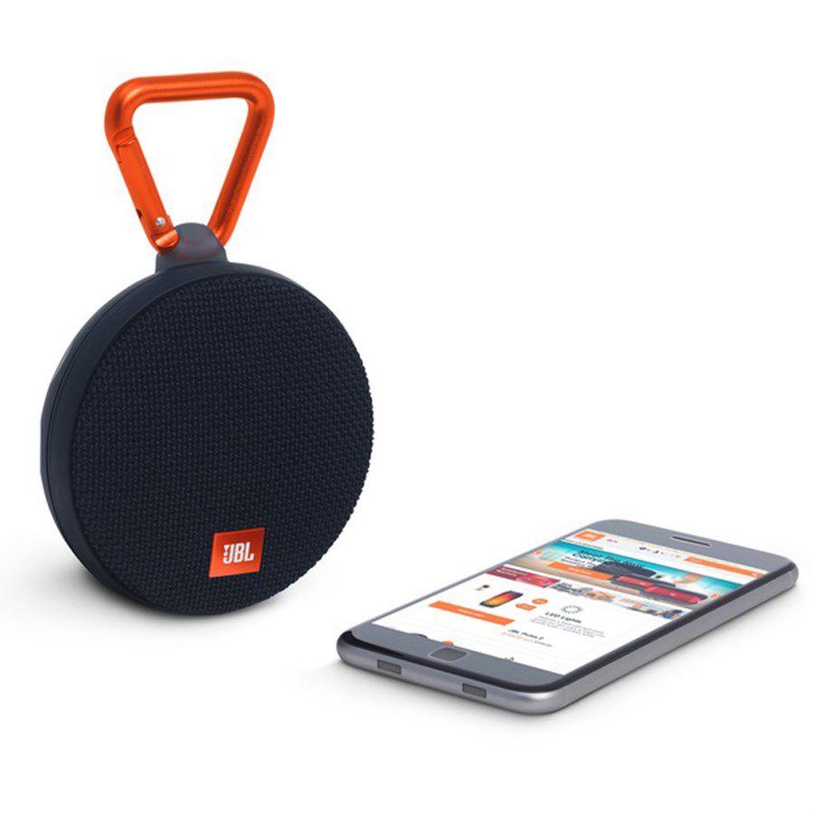 Caixa de Som JBL CLIP 2 Prova de Água e Bluetooth - Preta