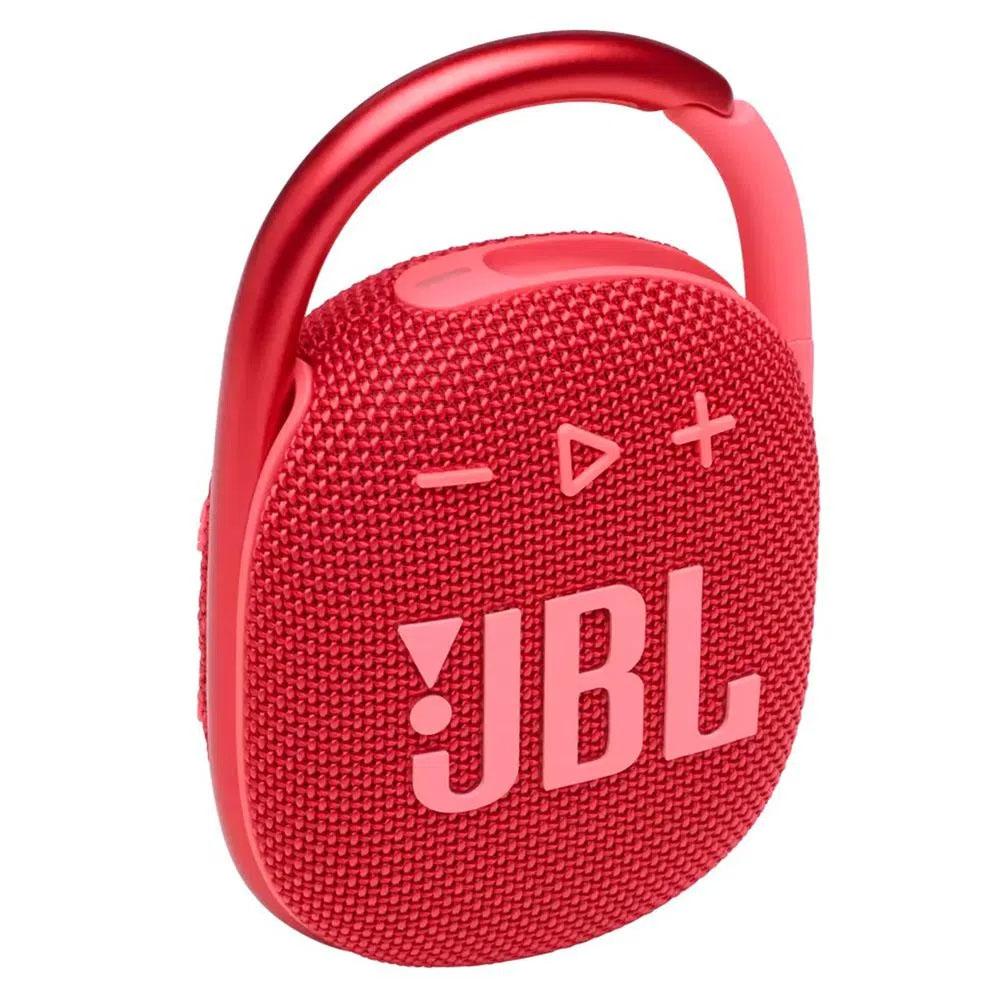 Caixa de Som JBL Clip 4 Bluetooth Portátil à Prova D'água - Vermelho