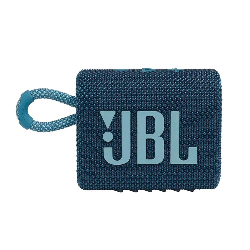 Caixa de Som JBL GO 3 - Prova de Água IPX7 Bluetooth - Azul