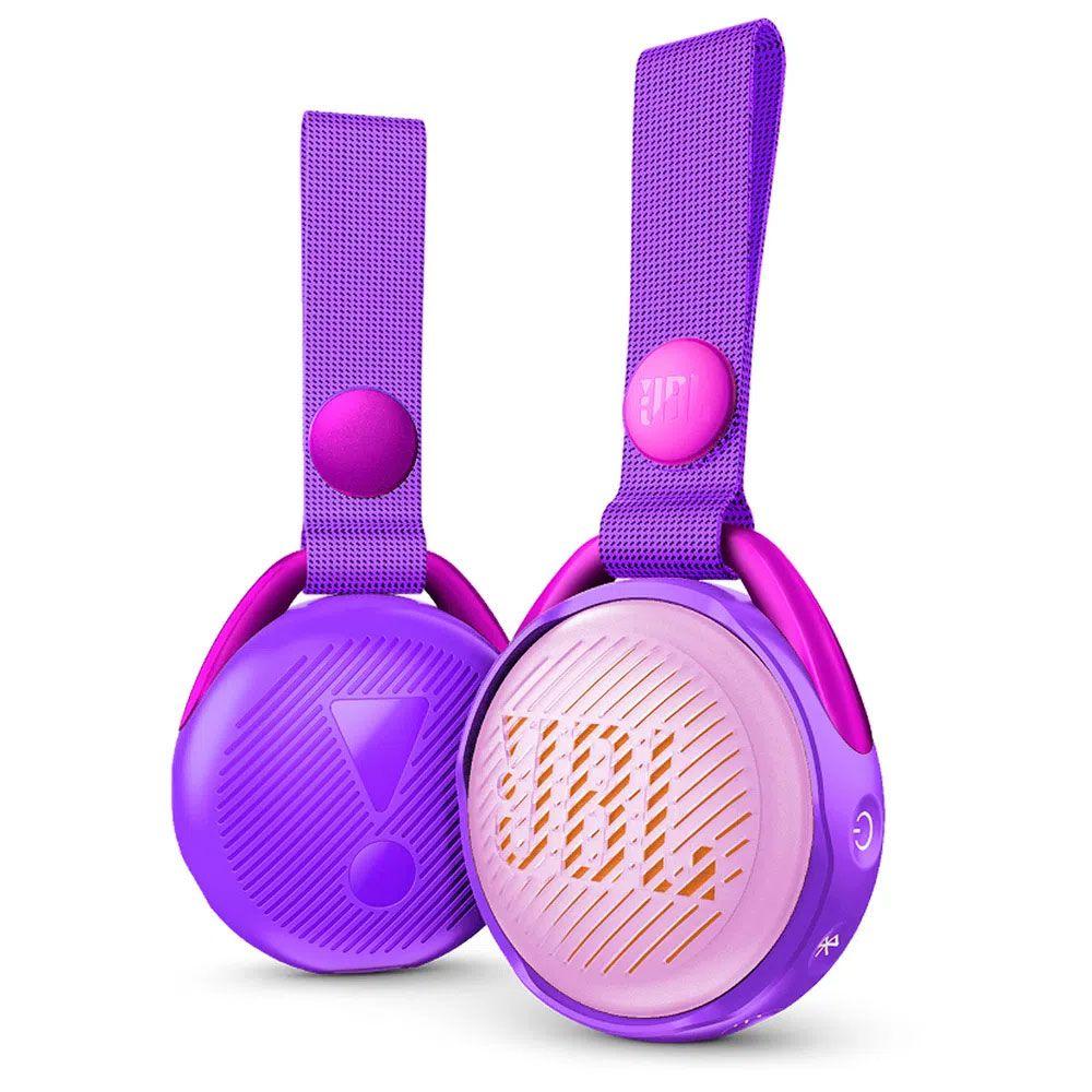 Caixa de Som JBL JR POP Portátil Bluetooth para Crianças Prova d'Água - Roxo