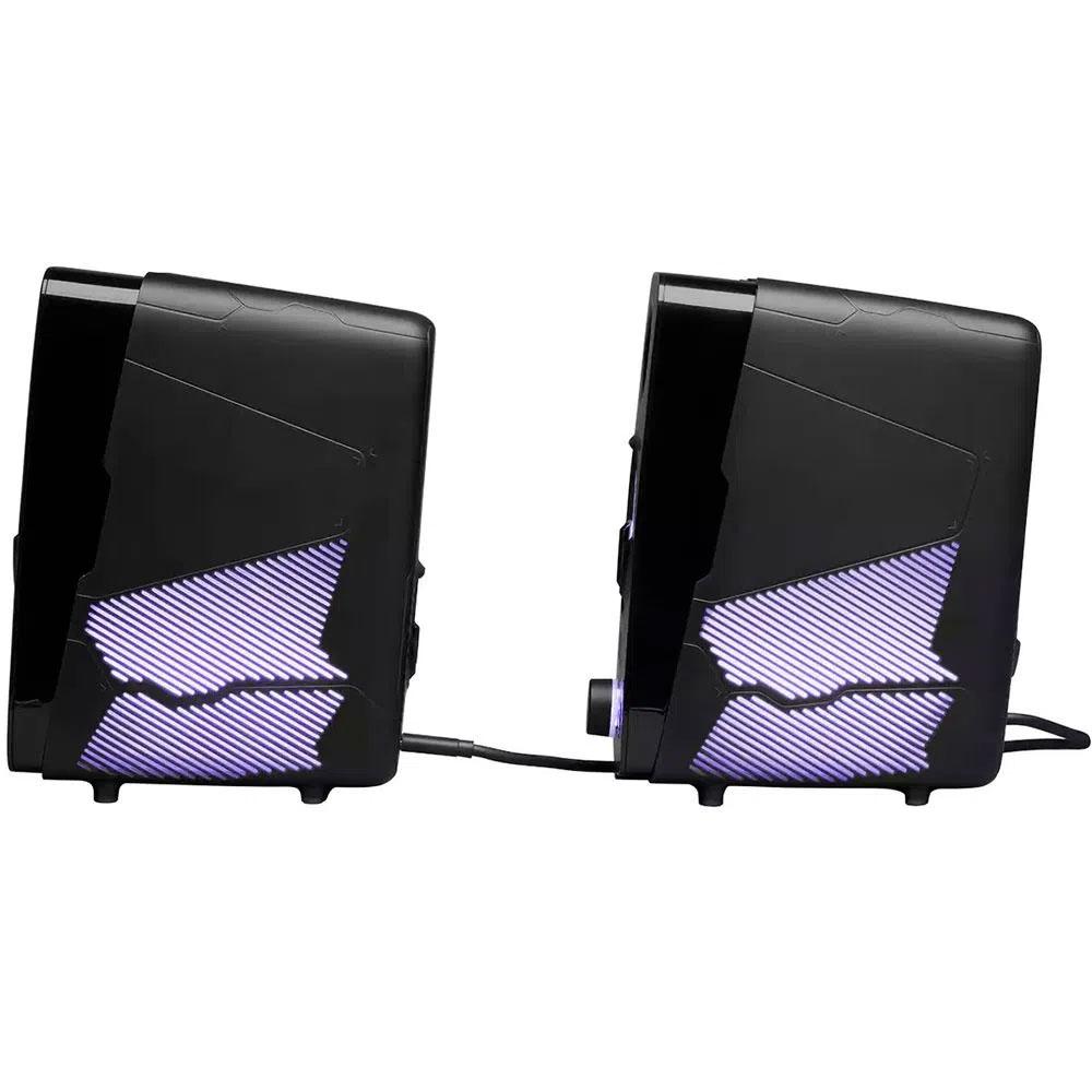 Caixa de Som JBL Quantum Duo Gamer RGB Integrado - Preto