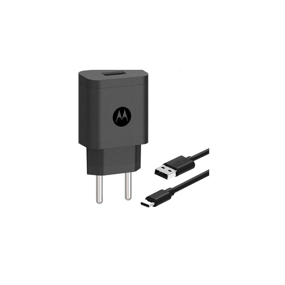 Carregador de Parede Motorola Turbo Power 10W Cabo USB Tipo C