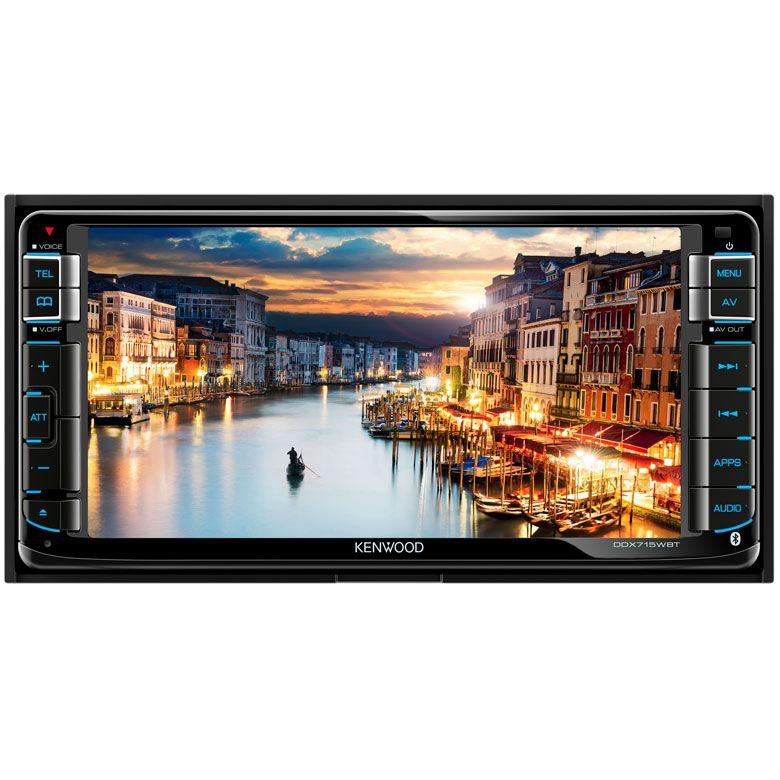 "Central Multimídia Kenwood DDX715WBT LCD 6.95"" USB e Bluetooth"