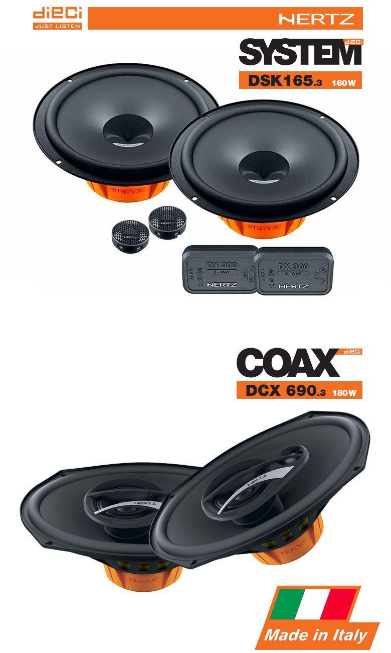 Combo Kit 2 Vias Hertz Dsk 165.3 + Triaxial Dcx 690.3