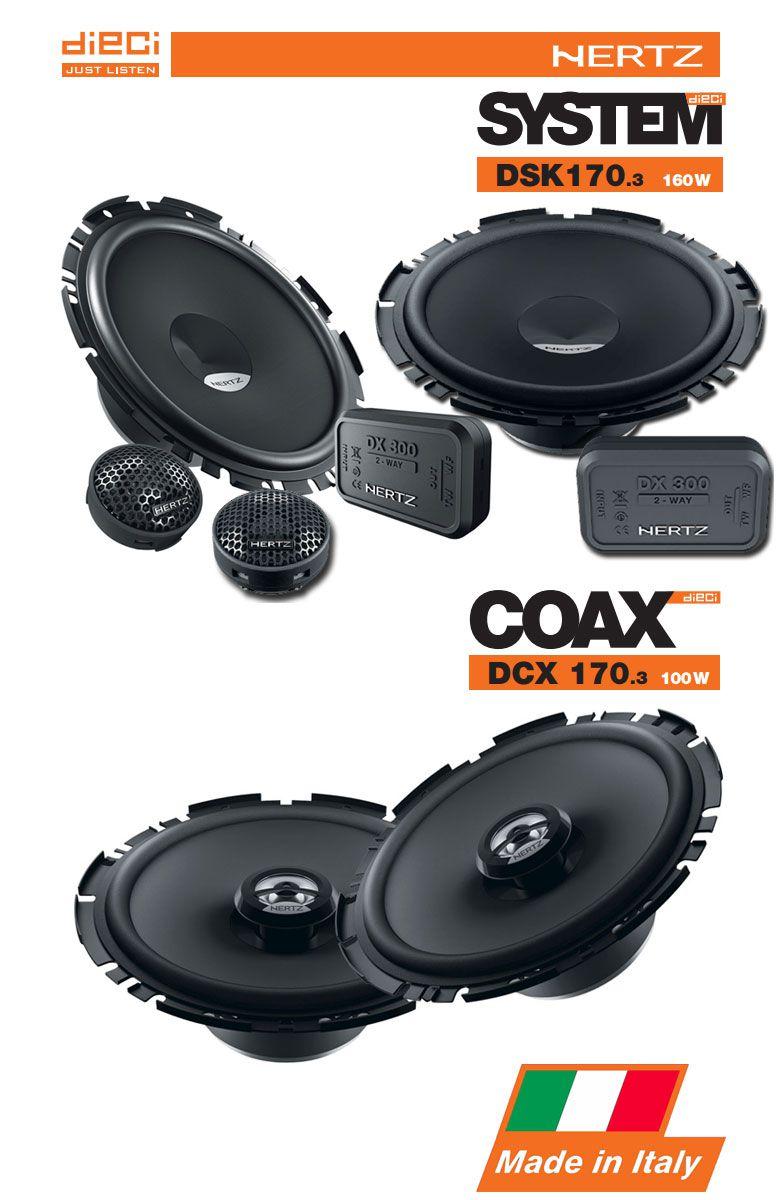 Combo Kit 2 Vias Hertz Dsk 170.3 + Coaxial Dcx 170.3