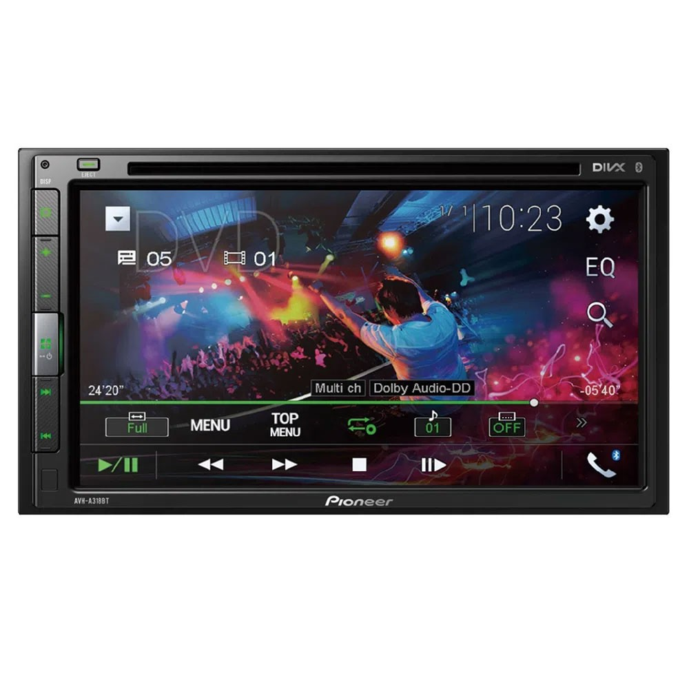 DVD Player Pioneer AVH-A318BT Tela 6,8 Pols 2 Din Bluetooth Usb