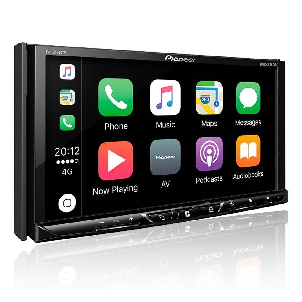 DVD Player Pioneer AVH-Z5080TV 7 Pols. - Bluetooth TV Digital Mixtrax Waze Spotify