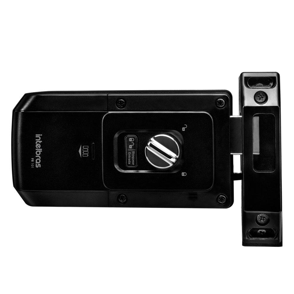 Fechadura Digital Intelbras FR 101 Touch Sobrepor - Preta
