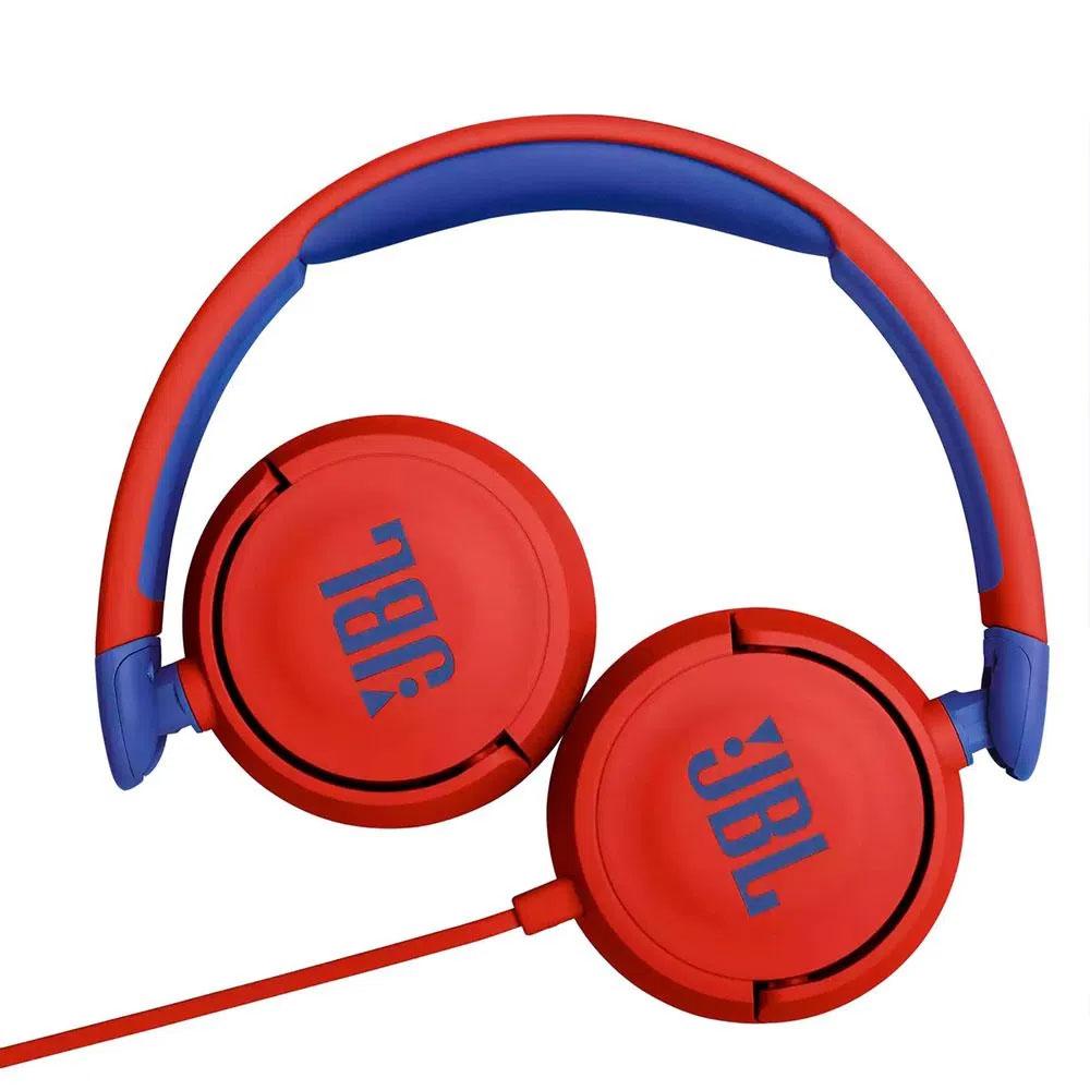 Fone de Ouvido JBL JR310 Infantil com Microfone Integrado - Vermelho