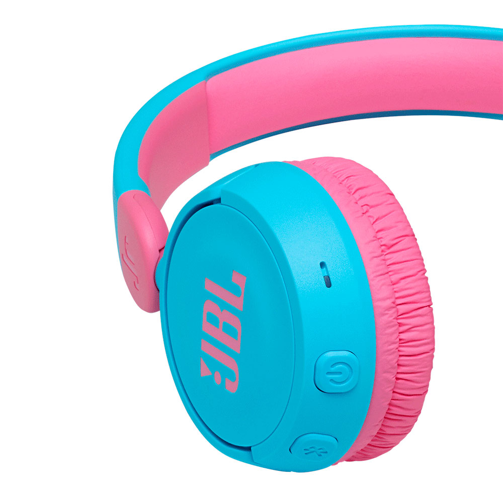 Fone de Ouvido JBL JR310BT Bluetooth Infantil Bateria 30 Horas - Rosa