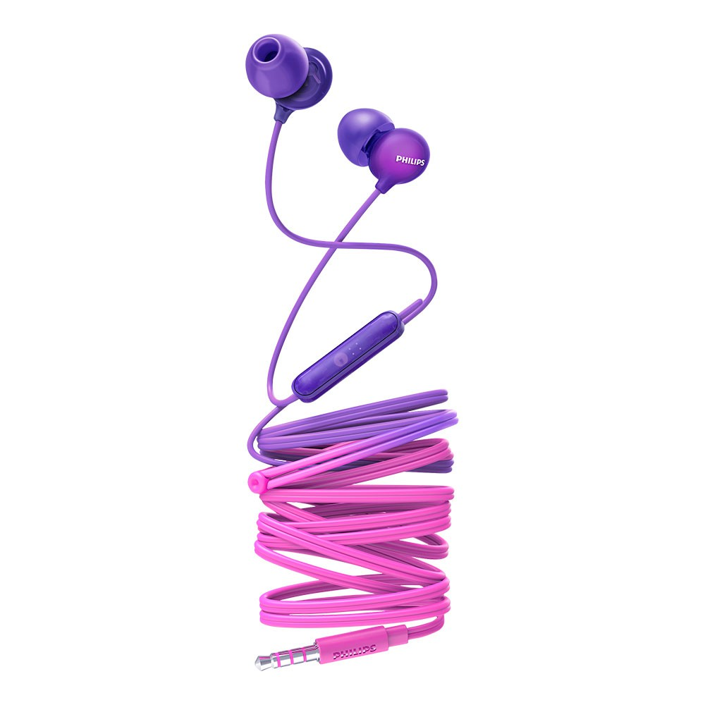 Fone de Ouvido Philips SHE2405PP/00 Upbeat Intra-auriculares com Microfone