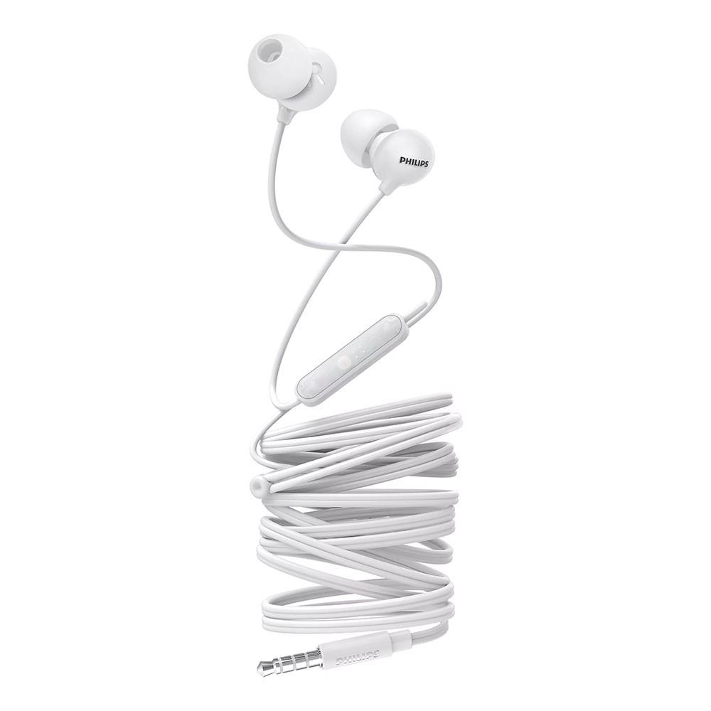 Fone de Ouvido Philips SHE2405WT/00 Upbeat Intra-auriculares com Microfone
