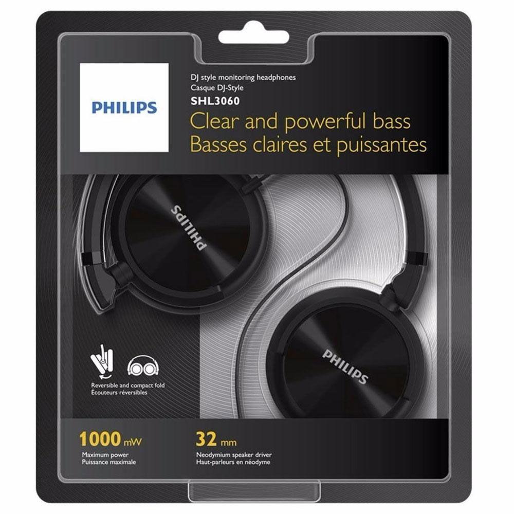Fone de Ouvido Philips SHL3060 Headphone P2 - Preto