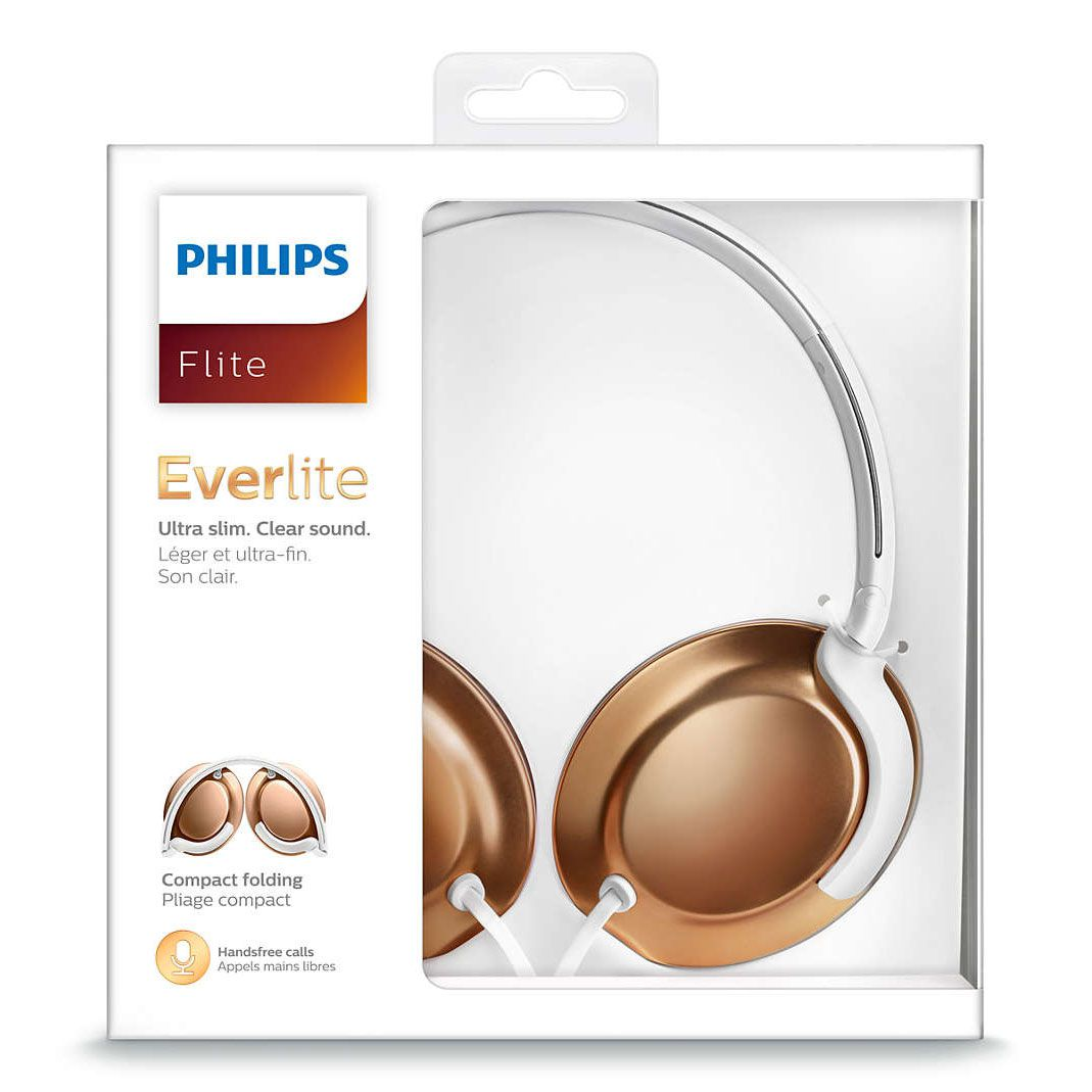 Fone de Ouvido Philips SHL4805RG/00 Flite Everlite - Rose