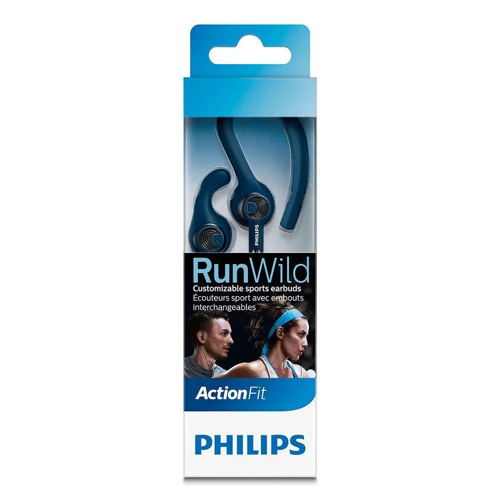 Fone de Ouvido Philips SHQ1400BL/00 ActionFit RunWild - Azul