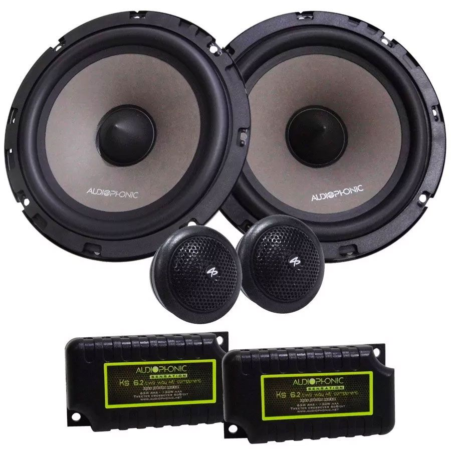 Kit 2 Vias Audiophonic KS 6.2 (6 pols. / 130W RMS)