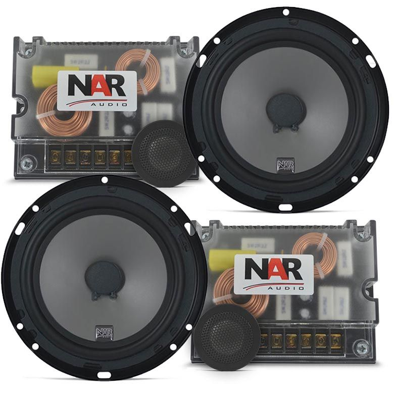 Kit 2 Vias NAR Audio 650-CS-2 (6 pols. / 110W RMS)