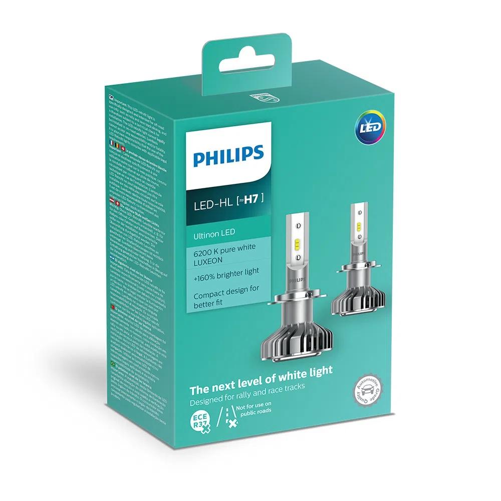Lâmpada Philips H7 Led Ultinon 6200K 12V 14W - Par