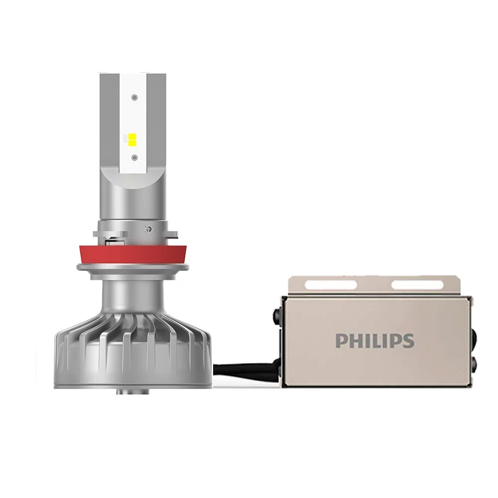 Lâmpada Philips H8 H11 H16 Led Ultinon Fog 6200K 12V 5W - Par