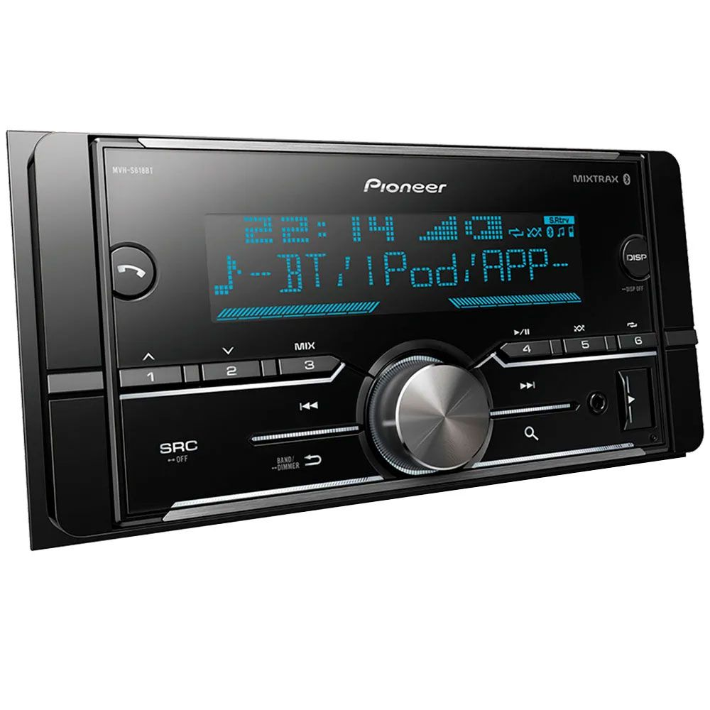 Media Receiver Pioneer MVH-S618BT Bluetooth Iphone Android Usb Aux