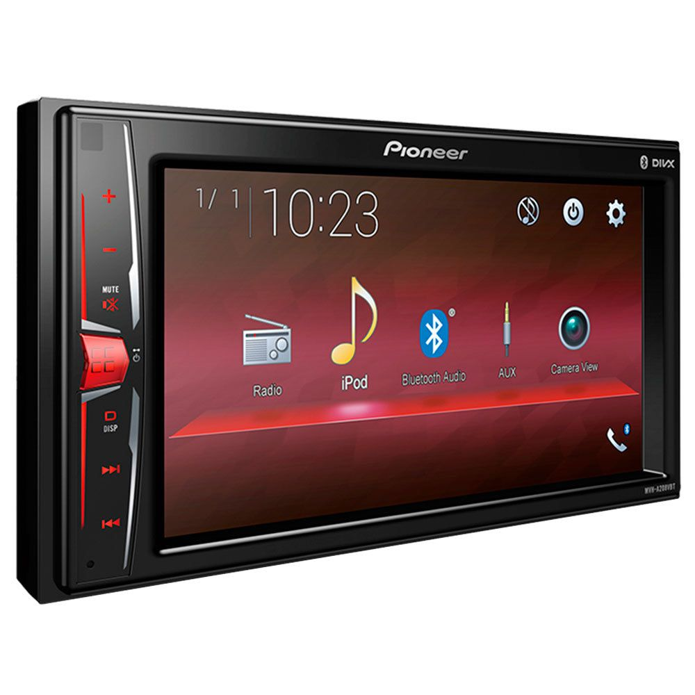 Multimídia Receiver Pioneer MVH-A208VBT 6,2 pols. - Bluetooth USB AUX