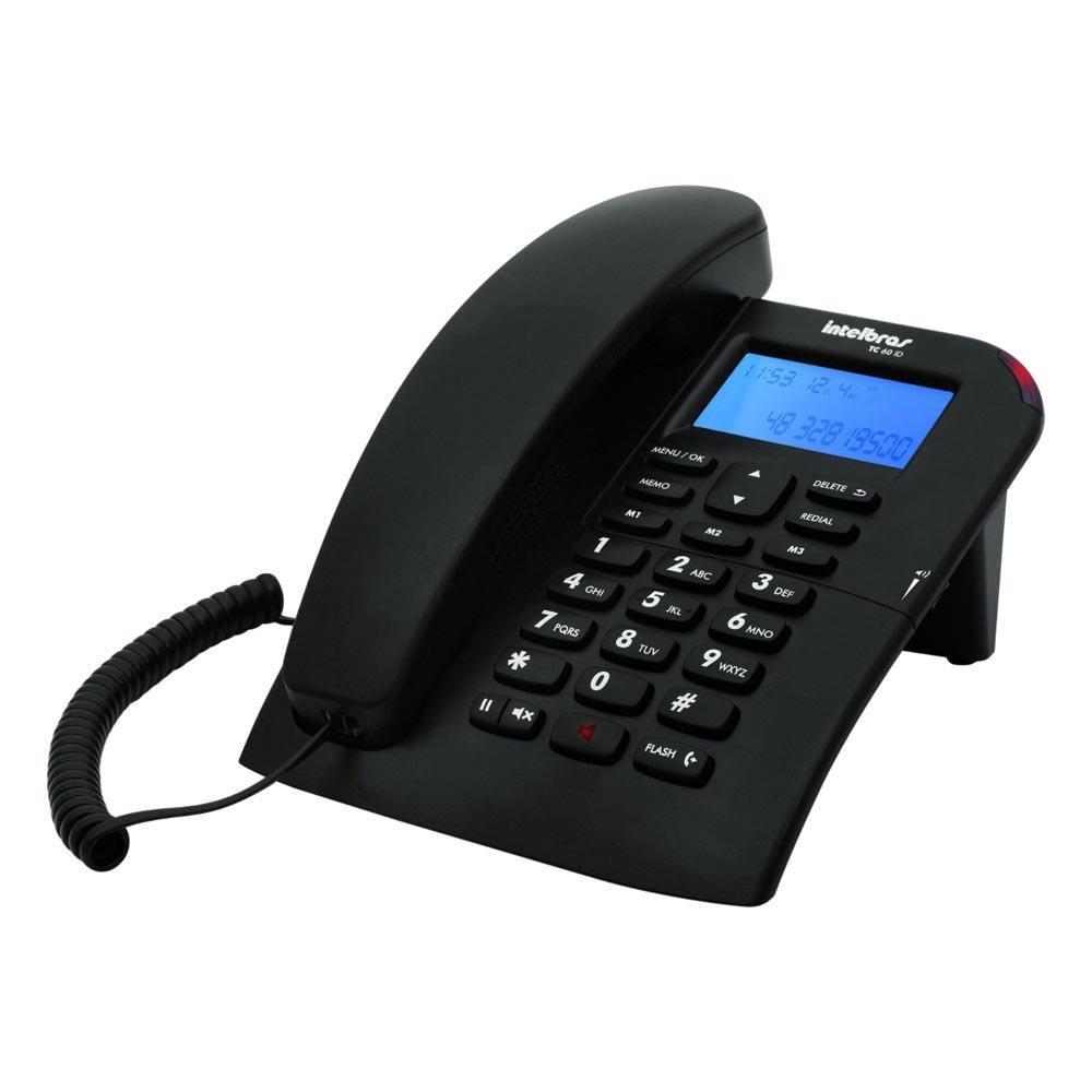Telefone Intelbras com Fio TC60ID - Preto