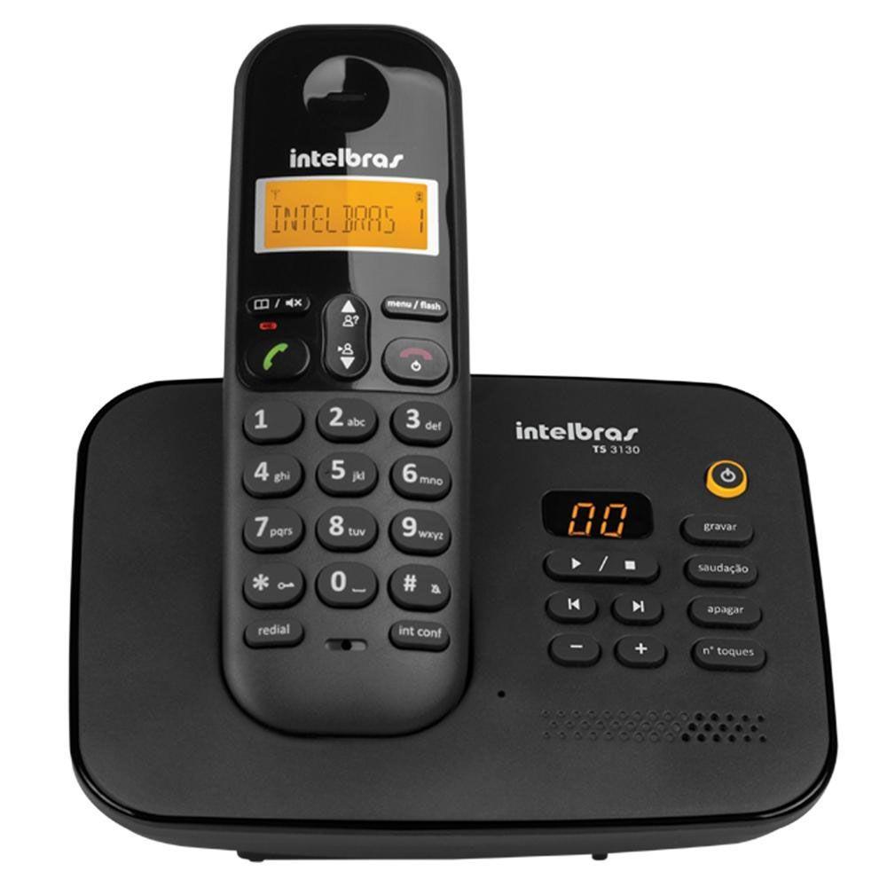 Telefone Intelbras TS3130 Sem Fio com Secretária Eletrônica