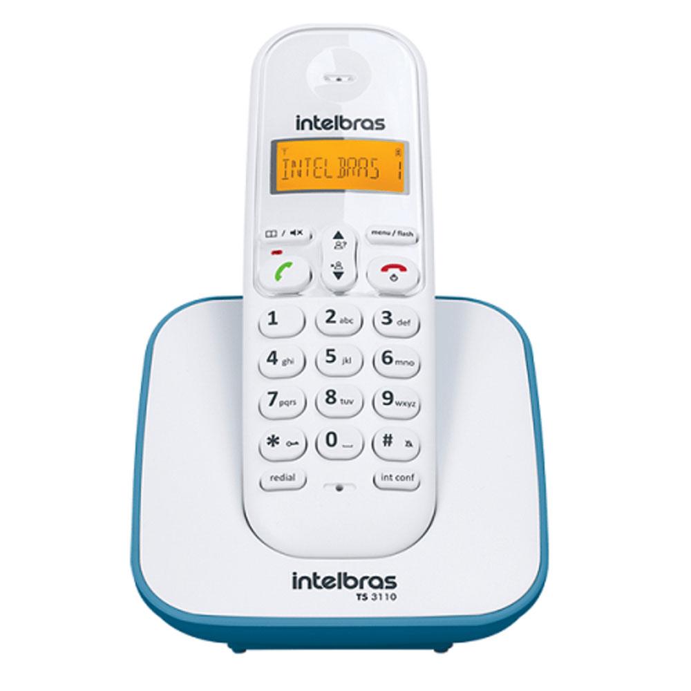 Telefone sem Fio Intelbras TS 3110 - Branco c/ Azul