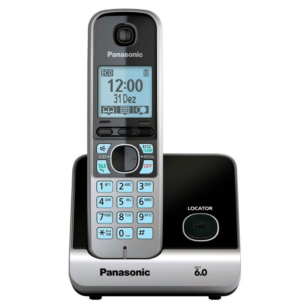 Telefone Sem Fio Panasonic KX-TG6713LBB com Backup de Energia e ID