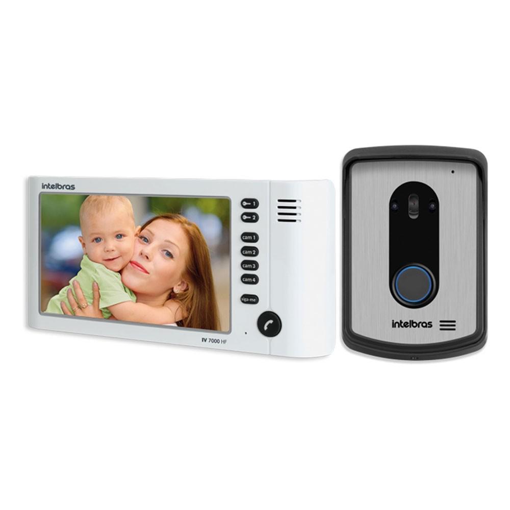 Vídeo Porteiro Intelbras IV7010 HF LCD Full Colorido - Branco