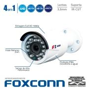Câmera Bullet Full HD 1080p Infravermelho Focusbras FBR FS-MBF2M 3,6mm 25m Visão Noturna - Multi HD: HDCVI + HDTVI + AHD + ANALÓGICO - Similar Intelbras VHD 3230 B