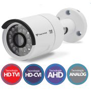 Câmera Bullet Infravermelho Flex 4 em 1 Tecvoz QCB-136 HD 720p 1.0M - CVBS, AHD, HDCVI, HDTVI