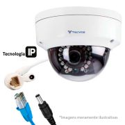 Câmera IP Dome Infravermelho THK-IDM30 Tecvoz 3.0 Megapixels Lente de 2,8mm