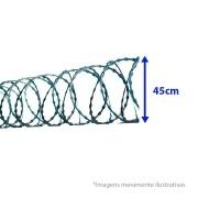 Cerca Concertina Dupla Clipada - Ouriço Duplo Clipado com 45 cm de diâmetro, Rende aprox. 6Mts de muro