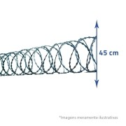 Concertina Clipada 10MX450MM - Aprox. 6 metros